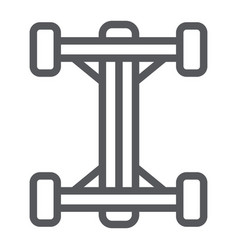 Chassis line icon car and part auto shaft sign vector