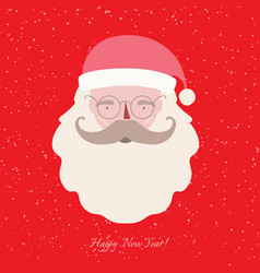 christmas greeting card with santa claus vector image