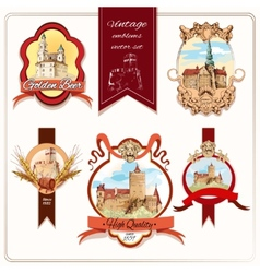 City emblems colored vector image