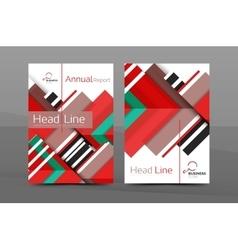 Clean geometric design annual report cover vector