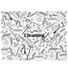 Cleaning colorless set vector image