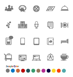 Collection Icons set Chat Application vector