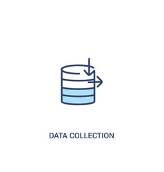data collection concept 2 colored icon simple vector image