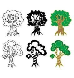 Deciduous trees vector