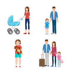 design of family and people logo vector image