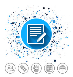 edit document sign icon edit content button vector image