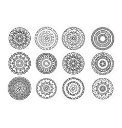 Ethnic decorative elements vector