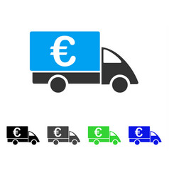 euro collector car flat icon vector image