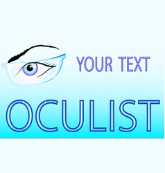 Eyes and glasses oculist vector