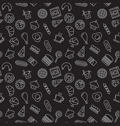 fast food dark seamless pattern vector image
