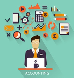 Flat design freelance career accounting vector