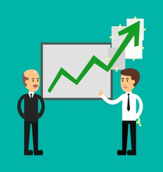 Flat design of business cartoon presentation vector image