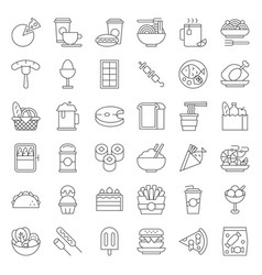 Food and drink icon gastronomy concept thin line vector