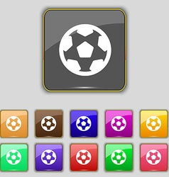 Football soccerball icon sign Set with eleven vector image