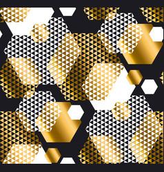 Gold and black color elegant repeatable motif vector