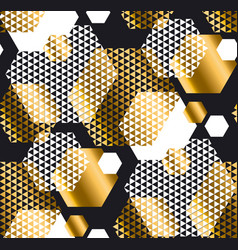 Gold and black color elegant repeatable motif with vector