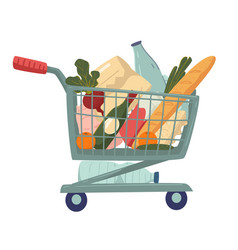 Grocery products and supermarket food shopping vector