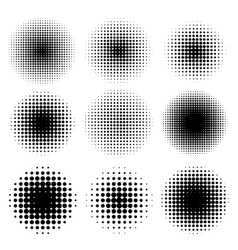 Halftone effects set vector