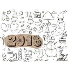 Hand drawn doodle elements on white background vector image