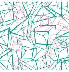 hand drawn geometric prismatic effect design in vector image