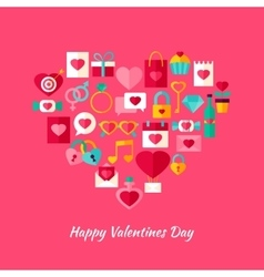 Heart Shape Valentine Day Objects vector image