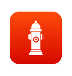 Hydrant icon digital red vector
