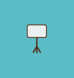Icon flat whiteboard element vector