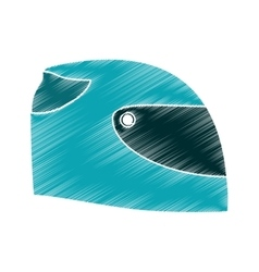 Isolated helmet of formula racing concept vector image