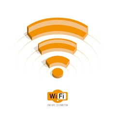 Isometric symbol Wi Fi vector image
