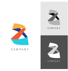 Logo design element eight or infinity symbol vector