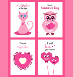 lovely greeting cards vector image