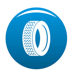 machine tire icon blue vector image