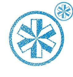 Medical symbol of emergency simple single color vector image