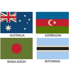 National Flags Symbol vector image