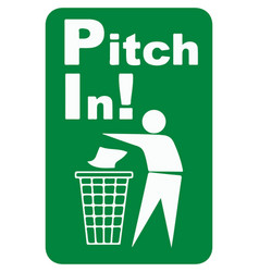 Pitch in sign eps10 vector