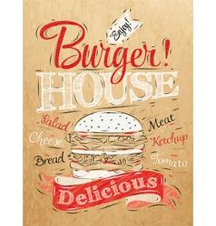 Poster Burger Hous Kraft vector