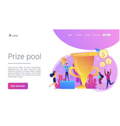 prize pool concept landing page vector image