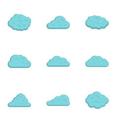 rain cloud icon set flat style vector image