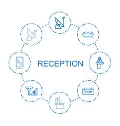 Reception icons vector