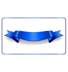 ribbon banner satin blank collection vector image
