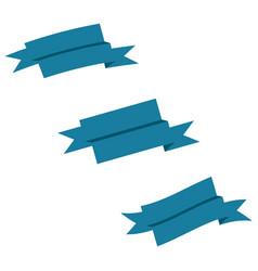 ribbons set icons vector image