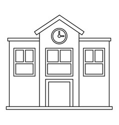 School icon outline style vector