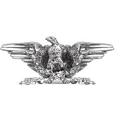 sculpture eagle vector image