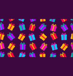 Seamless pattern with gifts bright colourful gift vector
