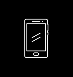 smartphone or mobile phone line icon vector image