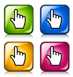Smooth cursor hand buttons vector