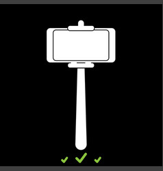 stick holder for selfie it is white icon vector image