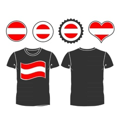 T-shirt with the flag of Austria vector