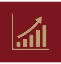 The growing graph icon Progress symbol Flat vector