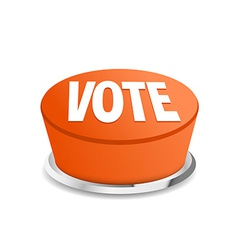 Time to vote button sign template vector image